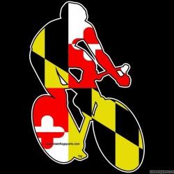 Maryland Themed Cyclist Decal