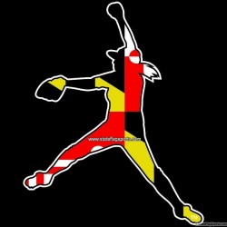Maryland Themed Girls Softball Decal