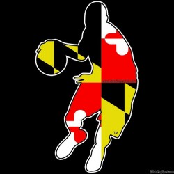 Maryland Themed Basketball Player Decal
