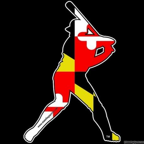 Maryland Themed Baseball Decal