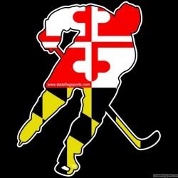 Maryland Themed Ice Hockey Decal