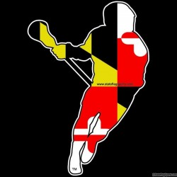 Maryland Themed Mens Lacrosse Decal